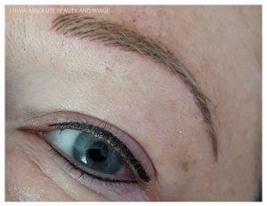 eyeliner+wenkbrauwen